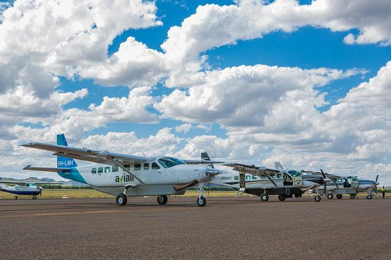 Aviair: Some of our fleet of Cessna 208 Turboprop aircraft.  We have the youngest fleet in the region wi