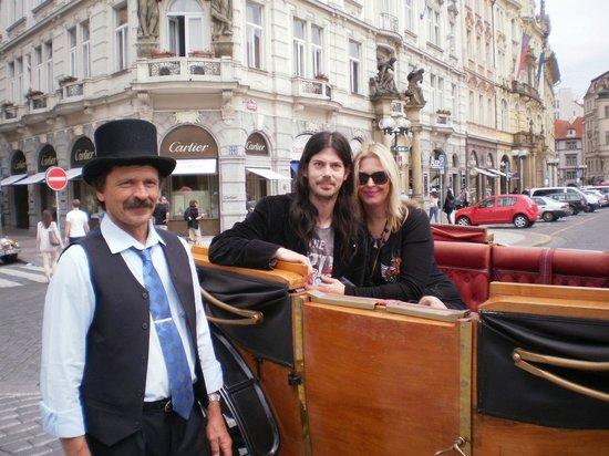 Vienna House Diplomat Prague : Our carriage ride in Prague