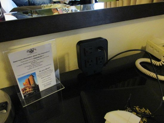 Chancellor Hotel on Union Square : prise courant + usb