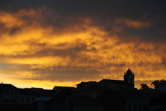 Pousada da Mangueira : panorama della città vecchia che s'infuoca al tramonto.foto cecilia polidori