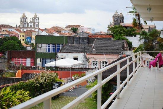 Pousada da Mangueira : camere su ballatoio che si affacciamo su un panorama della città vecchia. foto cecilia polidori