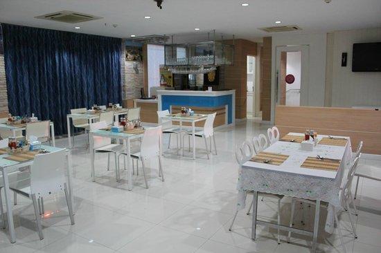 Lane Xang Princess Hotel: レストランは最上階にある