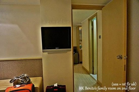 Hotel Benito: separate lcd tv in second room