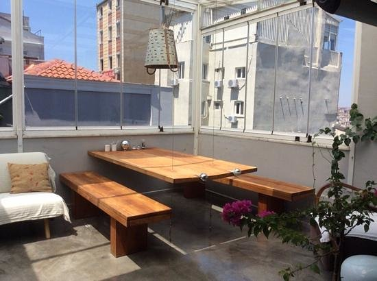 I'zaz Lofts: Roof terrace