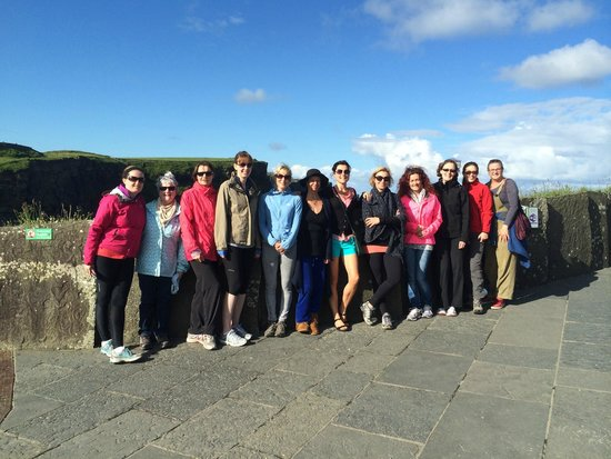 The Cliffs of Moher Retreat: Getting ready for our morning walk at the Cliffs of Moher
