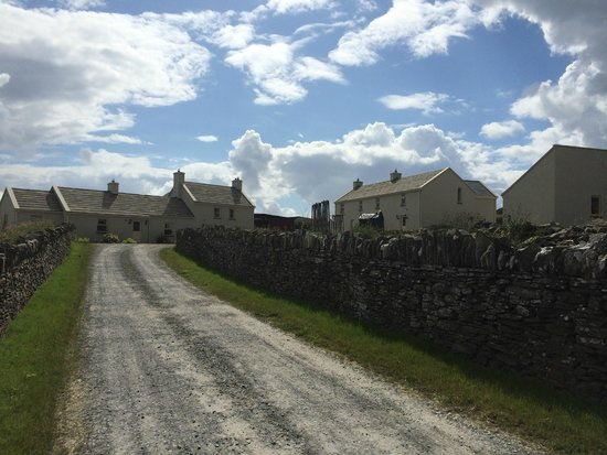 The Cliffs of Moher Retreat: View of the Retreat centre from bottom of the driveway- main buildings