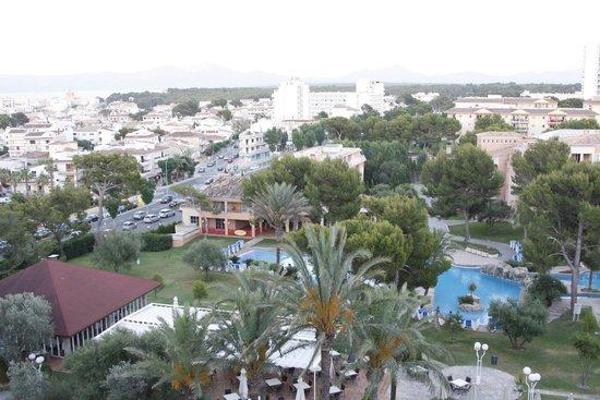 Grupotel Gran Vista & Spa: Ausblick von der Dachterrasse des Hotels