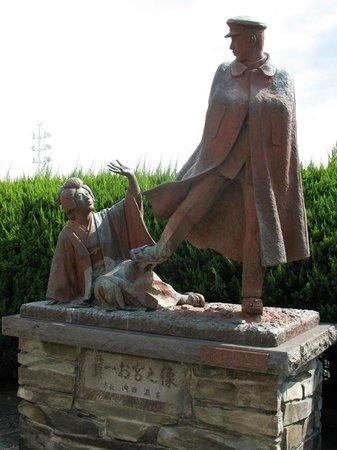 Omiyanomatsu / Statue of Kanichi and Omiya: Памятник