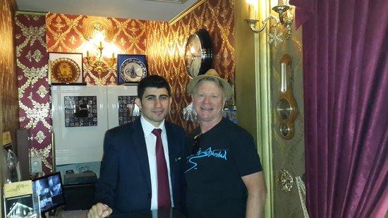Sultan Tughra Hotel : Mert, professional, helpful English speaking manager