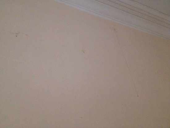 Langfords Hotel: stains on the wall