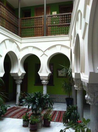 Hosteria Lineros 38 : Patio im älteren Gebäudeteil