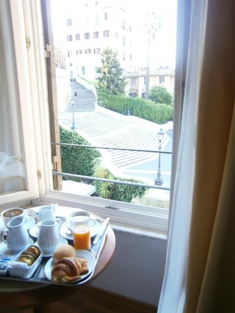 Piazza di Spagna View: Breakfast with a view