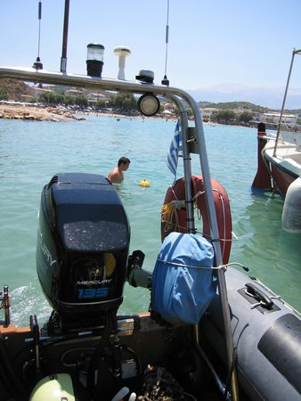 Omega Divers Chania Diving Center : Watch out swimmers