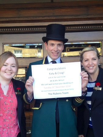 The Rubens at the Palace : Katie, Hettie and a very handsome chap in his top hat at The Ruebens!  Awesome team at a beautif