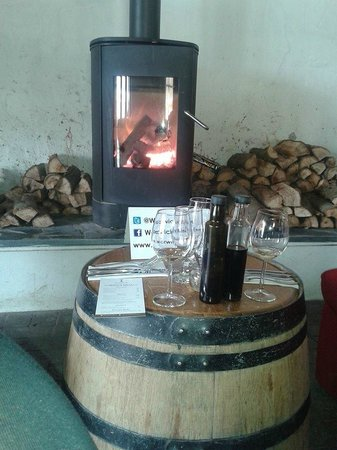 Warwick Wine Estate: The fireplace to warm the heart!