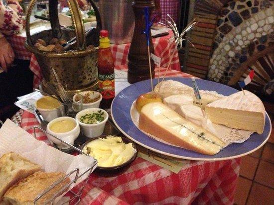 La Petite Rose des Sables : il piatto di formaggi