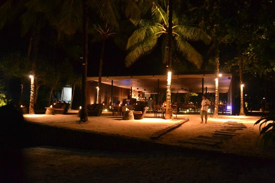 The Sarojin: the Edge restaurant at night
