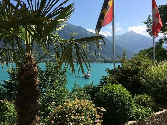Hotel Brienzersee : View from right hand end of the terrace