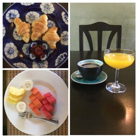 Frangipani Fine Arts Hotel: Breakfast on a diet!