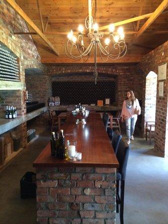 Riverside Cottages at La Bourgogne : Wine tasting cellar at La Bourgonge