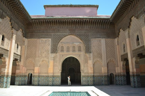 The middle of Ben Youssef Madrasa