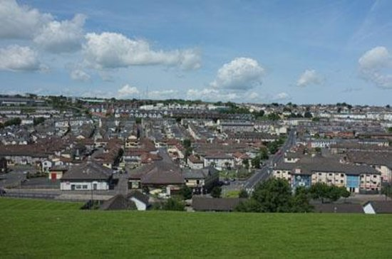 Free Derry Corner: The Bogside seen from the city walls
