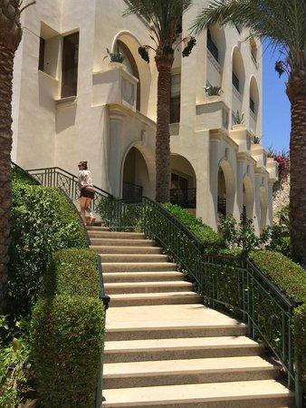 Stella Di Mare Beach Hotel & Spa: спуск к бассейну и пляжу