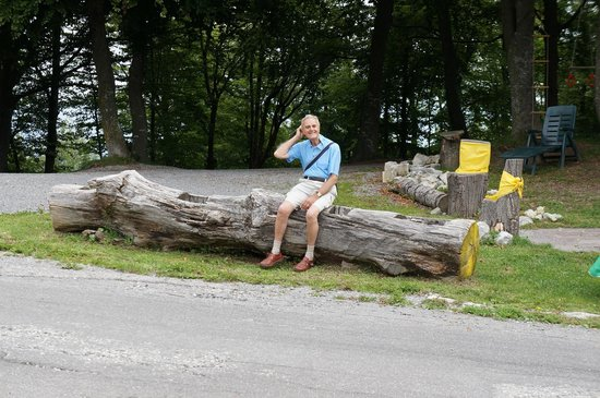 Belvedere della Sighignola: Cyril taking it easy on the way up