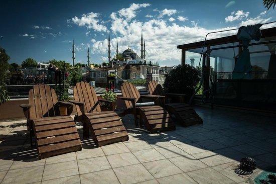 Artefes Hotel Istanbul : Terrace (Hagia Sophia)
