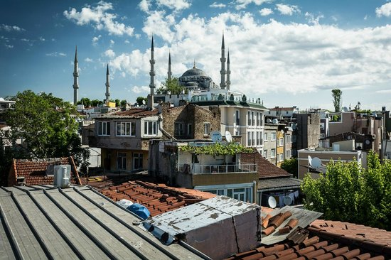 Artefes Hotel Istanbul: Terrace (Hagia Sophia)