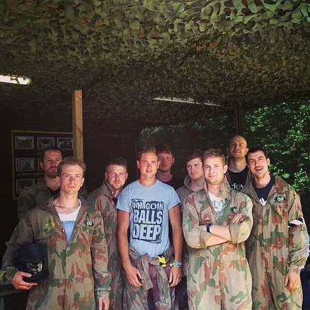 Delta Force Paintball Cardiff: Our group