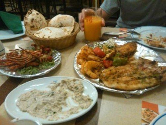 El Mina Restaurant : Наш заказ