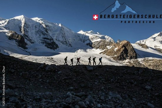 Klettersteig La Resgia : Klettersteig la resgia in pontresina. picture of bergsteigerschule