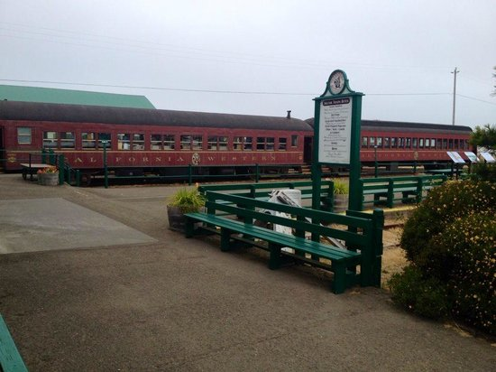Skunk Train: at the depot