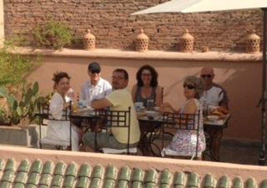 Riad Danka: petits déjeuners sur le toit terrasse
