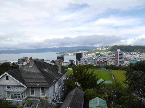 Wellington Cable Car: View from to of Cable Car
