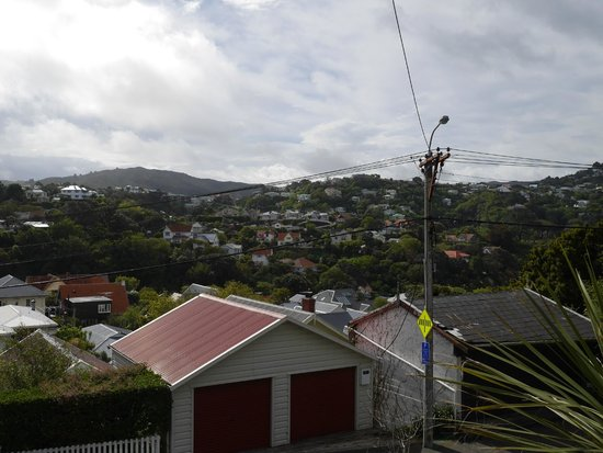 Wellington Cable Car: View from Kelburn near top terminus