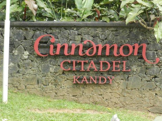Cinnamon Citadel Kandy : Name Board