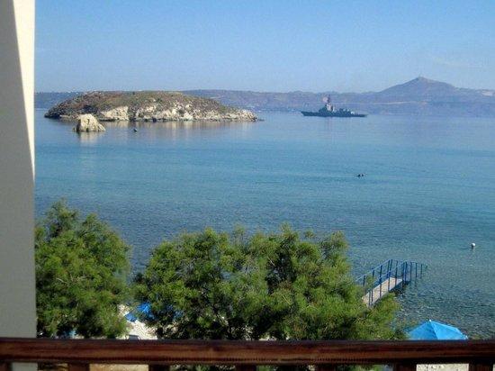 Almyrida Beach Hotel: View from the balcony