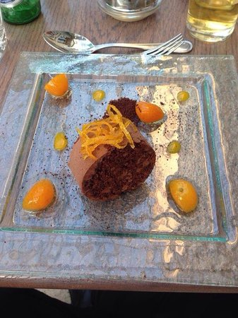 Coombe Abbey Hotel: Chocolate jafa desert