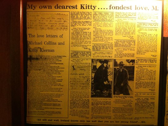 Granard, Ireland: News clippings in the dining area