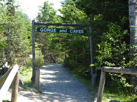 Lost River Gorge and Boulder Caves: Entrance path to the gorge.