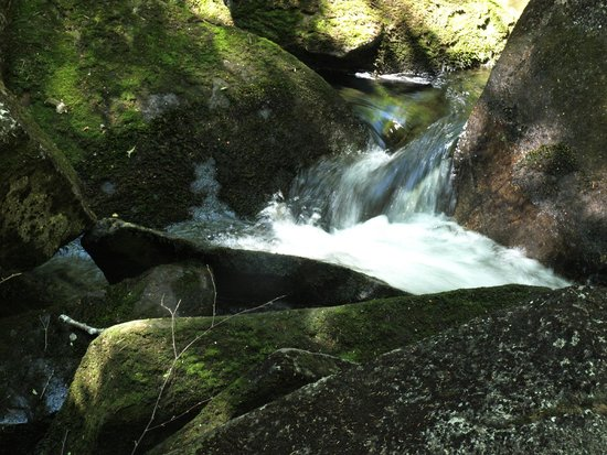 Lost River Gorge and Boulder Caves: One of the many waterfalls of the gorge.
