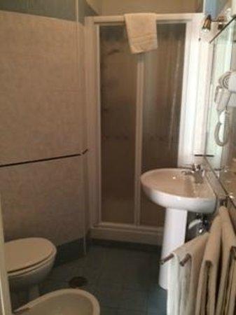 Santa Maria Inn: Bagno con doccia e phon