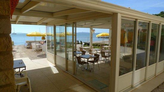 Hotel Lido Beach : Breakfast room when cool or outside