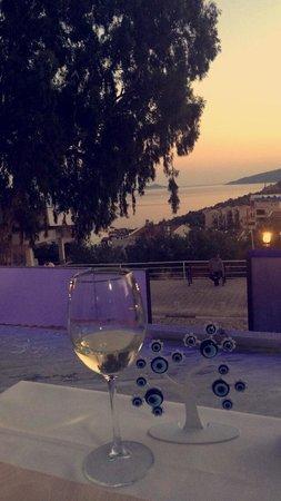 Limos Restaurant Kalkan: Drink & view from limos