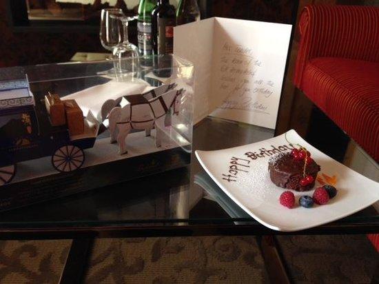 Grand Hotel Zermatterhof: Birthday present from the hotel