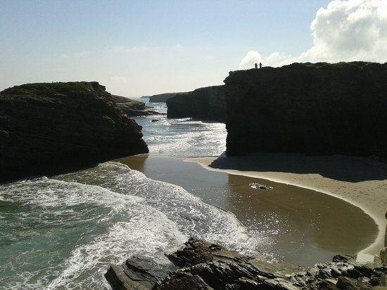 Playa de las Catedrales: bajamar