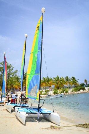 Hotel Riu Montego Bay: Some of the sail boats at The Riu