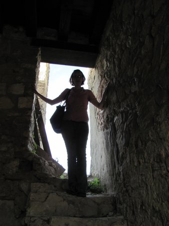 Castello di Lombardia (Enna) : stair to the roof